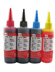 topwei imprimante générique compatible même pour quatre couleurs d'encre 100ml (rouge, bleu, jaune, noir)