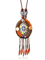 Femme Pendentif de collier Alliage Mode Orange Bleu Arc-en-ciel Bijoux Pour Mariage 1pc