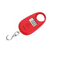 mini-balança portátil eletrônica (escala máxima: 25 kg, vermelho)