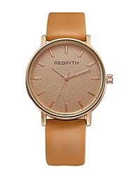 REBIRTH Pánské Dámské Módní hodinky Náramkové hodinky Křemenný / PU Kapela Běžné nošení Černá Bílá Orange KhakiOranžová Černobílá Černá