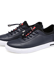 Men's Flats Comfort / Round Toe / Closed Toe  Casual Flat Heel Lace-up Black / Blue / White