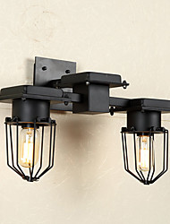 American Loft Industrial Wall Lamps Vintage Bedside Wall Light Metal Cage Lampshade Dining/ Bars Bar Table Fixture