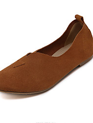 Women's Flats Fall Round Toe / Flats Nappa Leather Casual Flat Heel Others Black / Brown / Gray Others