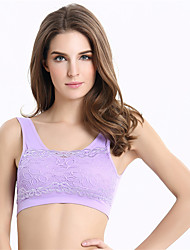 No Rims Lace Vest Shockproof Stationary Sports Bra Breastfeeding Racerback Wireless Underwear