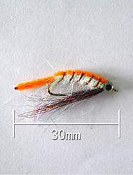 """500 pcs Harte Fischköder Orange 5 g/1/6 Unze,30 mm/1"""" Zoll,Weicher Kunststoff Köderwerfen"""