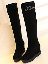Women's Boots Fall Winter Fashion Boots Fabric Outdoor Platform Rhinestone Black Other