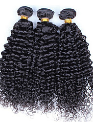 Grade 7A Malaysia Curly Wave Human Hair 3 Bundles Natural Black Malaysia Virgin Hair Curly Wave  Remy Hair Extensions