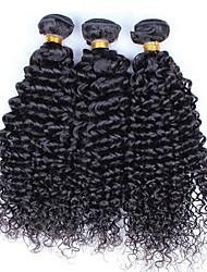 Tissages de cheveux humains Cheveux Malaisiens Bouclé 3 Pièces tissages de cheveux