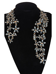 Xu ® Women 's Exaggerated Personality Leaf Metal Flass Fashion Necklaces
