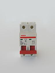 disjuntor miniatura interruptor de diodo de saída de ar circuito de proteção disjuntor 2p sobrecarga