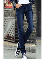 Men's Solid Casual Jeans,Cotton Black / Blue