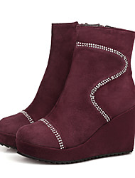 Women's Shoes   Wedges / Fashion Boots Boots Outdoor / Office & Career / Casual Wedge Heel OthersBlack /  &H1-1