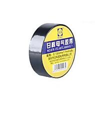 8m cinta de PVC negro (diez rollos de una venta, negro)