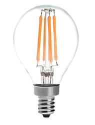 4 E14 LED kulaté žárovky G45 4 COB 380 lm Teplá bílá Voděodolné AC 220-240 V 1 ks