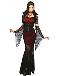 Cosplay Costumes/Party Costumes Vampires Halloween Red/Black Lace Spandex / Terylene Skirt / Sleeves / Belt / Necklace