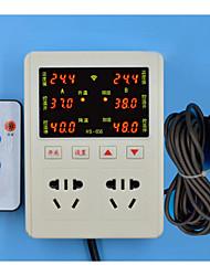 hs-656 controlador de temperatura e umidade constante (plug-in ac-85-250v-3W; faixa de temperatura: -9-99 ℃; dois de um pack)