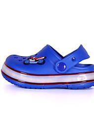Para Meninas-Chinelos e flip-flops-Light Up Shoes-Rasteiro-Azul Amarelo Rosa-Couro Ecológico-Casual