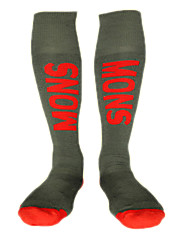 meias de esqui preta vermelha 41-45