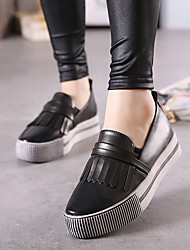Women's Loafers & Slip-Ons Spring / Fall Flats PU Casual Flat Heel Others Black / Red Others