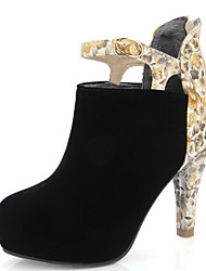 Women's Shoes Chunky Heel Round Toe Platform Flower Print Ankle Boot with Back Zip More Color Available