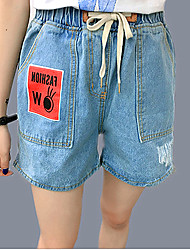 Women's Solid Blue Jeans / Shorts Pants,Simple