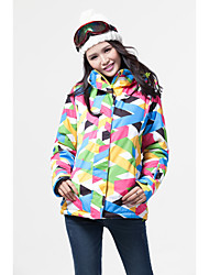 Women's Rainbow Multi-color Padded Coat,Simple / Active Hooded Long Sleeve