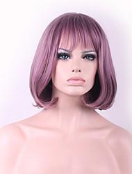 New Cos Wig Purple Smoke Mixed Color Buckle Bobo Short Wig Within 12 Inch