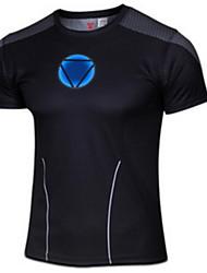 Per uomo T-shirt da corsa Manica corta Comodo Crema solare Top per Esercizi di fitness Corsa Cotone Chinlon Taglia piccola NeroM L XL XXL
