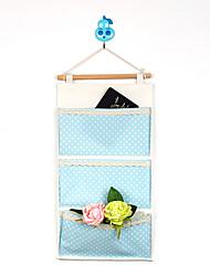Three Pockets Behind The Door Dot Big Capacity Storage Bag
