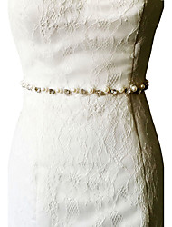 Satin Wedding / Party/ Evening / Dailywear Sash - Beading / Pearls / Rhinestone Women's Sashes