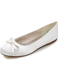 Women's Shoes Satin Spring / Summer / Fall Round Toe / Flats Flats Wedding / Office & Career / Party & Evening / Dress