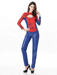 Batman Costumes de cosplay Bleu Film Costumes de cosplay Solide Collant Cuir PU Féminin