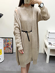 Women's Going out / Casual/Daily / Beach Simple / Cute / Street chic A Line / Two Piece / Sweater Dress