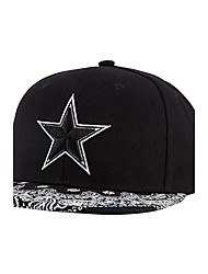Top Quality New Fashion Men Women Street Dance Five Star Point Embroidery Hip Hop Baseball Caps