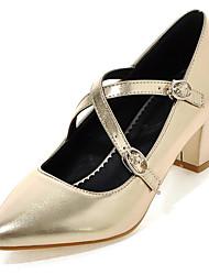 Femme-Habillé Soirée & Evénement-Argent Rouge Vert Rose Doré-Gros Talon Plateforme Block Heel-A Plateau-Chaussures à Talons-Similicuir