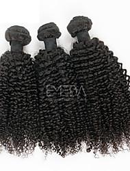 3pcs / lot cabelo virgem malaio afro encaracolado Kinky extensões de cabelo humano 8 'preto natural' - 30 '' cabelo humano tece bundles