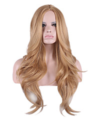 Points in the Golden Natural Curly Hair Synthetic wig