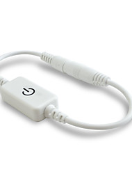 1pcs um toque levou interruptor dimmer para tira conduzida ou lâmpada de preto / branco (dc 5-24v)