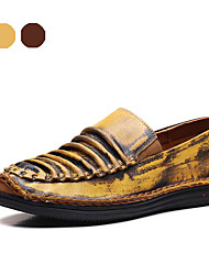 Men's Shoes Party & Evening / Casual Nappa Leather Loafers Brown / Yellow