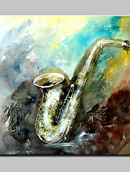 Hand Painted Musical Instruments Oil Paintings On Canvas Modern Wall Art With Stretched Frame Ready To Hang 100x100cm
