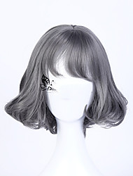 2016 Fashion Short Grey Wig Short Bob Wig Grey Bob Hair Wig Party Cosplay Wig Wavy wig For Woman