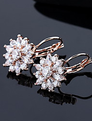 Earring Flower Drop Earrings Jewelry Women Fashion Daily / Casual Alloy 1 pair Gold / Silver