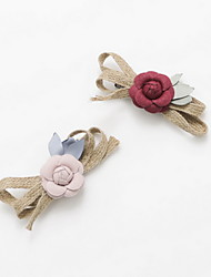 Women's Flower Girl's Fabric Flower Bow  Hair Clip