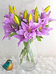 """1 Ramo Outras Lírios Flor de Mesa Flores artificiais 50 (19.68"""")"""