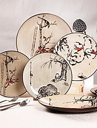 Hand-Painted Ceramic Plate Tableware Suit Restoring Ancient Ways(design Random)