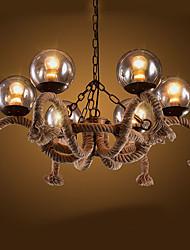 Luzes Pingente ,  Tradicional/Clássico Pintura Característica for Estilo Mini MetalSala de Estar Quarto Sala de Jantar Quarto de