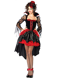 Cosplay Costumes/Party Costumes Angel & Devil / Ghost / Zombie / Vampires Halloween / Christmas / Carnival Red / Black Vintage Dress