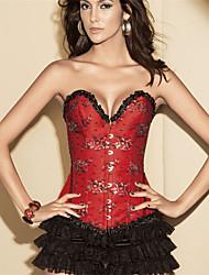Damen Brustkorsett Nachtwäsche,Push-Up / Druck Druck-Polyester / Elasthan Mittelmäßig Rote / Grau / Lila / Grün Damen