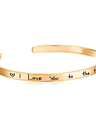 "Bracelet/Cuff Bracelet/Bangles,Fashion Gold-stone Love Bracelet for Women/girls "" I Love You To The Moon And Back"" Christmas Gift 1 pcs"