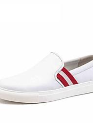 Черный Белый Бордовый-Мужской-Для прогулок Для офиса Повседневный-Кожа-На плоской подошве-Удобная обувь-Мокасины и Свитер